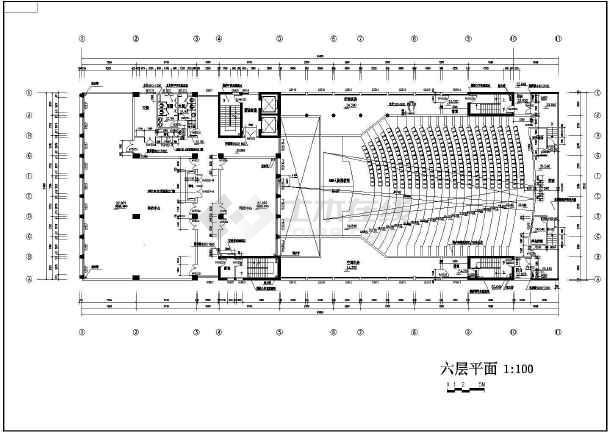 某学校校区教学综合楼建筑施工图纸-图1