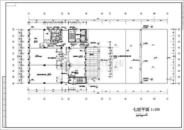 某学校校区教学综合楼建筑施工图纸-图2