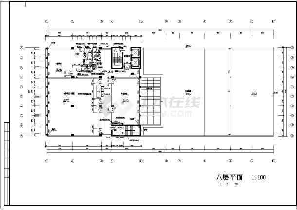 某学校校区教学综合楼建筑施工图纸-图3