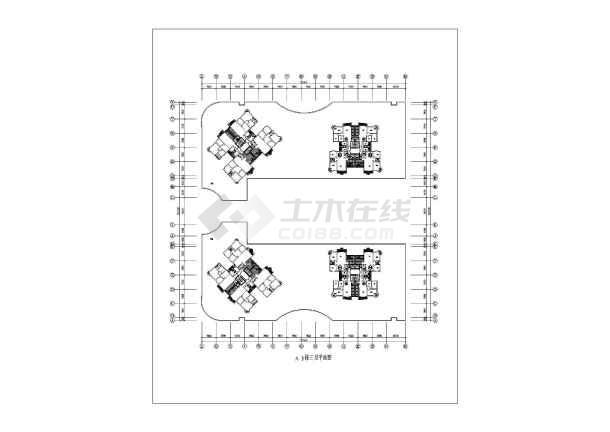 十八层电梯商住楼建筑施工全套方案cad设计图纸-图2