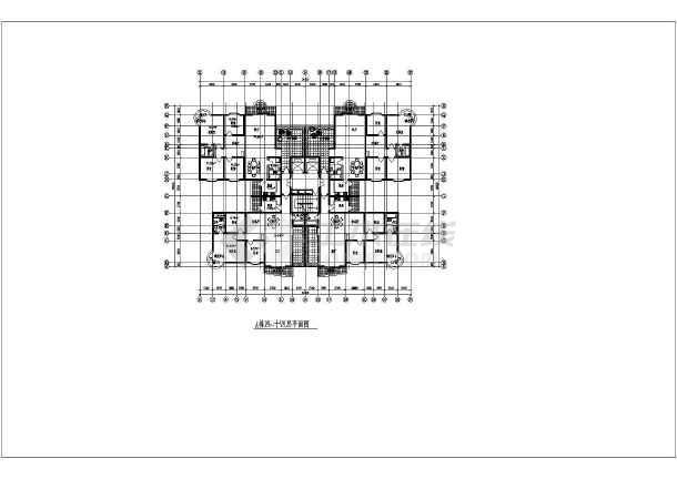 十八层电梯商住楼建筑施工全套方案cad设计图纸-图3
