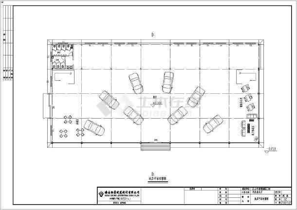 某钢结构两层汽车展厅cad施工设计图