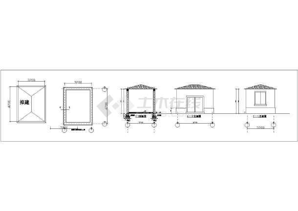 某独栋别墅景观整套园林cad设计施工图-图1