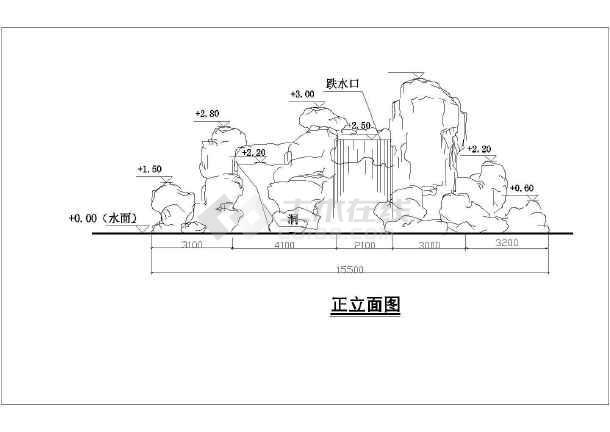 某独栋别墅景观整套园林cad设计施工图-图3