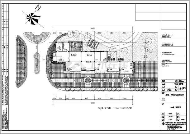 某地区住宅明珠苑规划建筑cad设计-图1