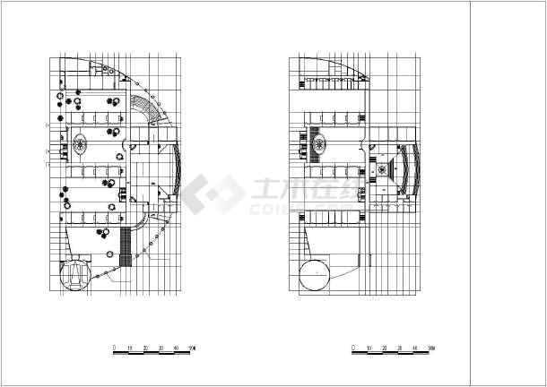 某地小学校区平剖面建筑施工图纸(节点详细)-图1