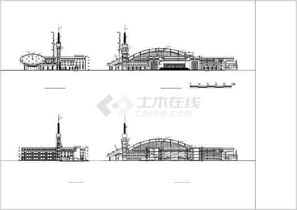某地小学校区平剖面建筑施工图纸(节点详细)-图2