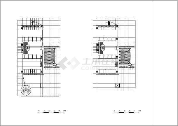 某地小学校区平剖面建筑施工图纸(节点详细)-图3