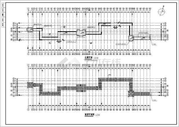 某工程景观古建长廊建筑园林cad设计施工图-图2