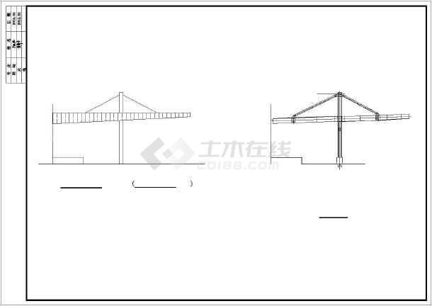 某大跨度钢结构雨棚施工图纸(含设计说明)