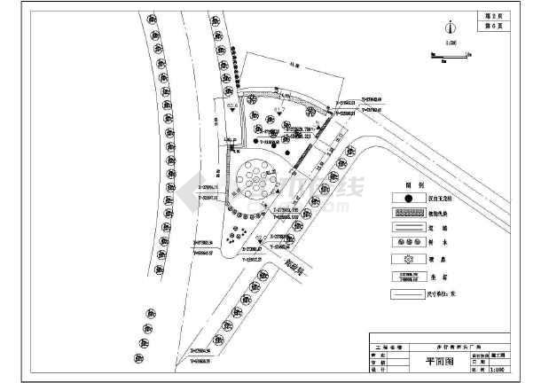 某步行街广场绿化景观园林CAD设计施工图-图1