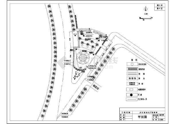 某步行街广场绿化景观园林CAD设计施工图-图2