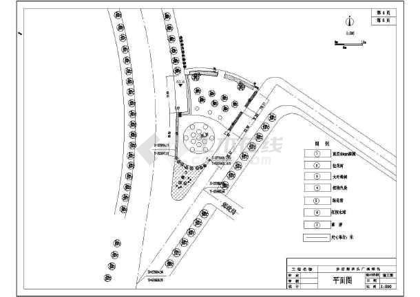 某步行街广场绿化景观园林CAD设计施工图-图3