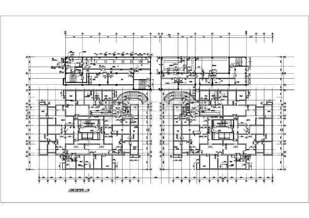 2011年某市高层住宅楼全套cad设计施工图纸-图1