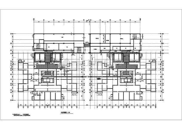 2011年某市高层住宅楼全套cad设计施工图纸-图2