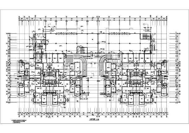 2011年某市高层住宅楼全套cad设计施工图纸-图3