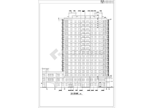 教育小区B区5号楼独栋楼cad施工图-图1