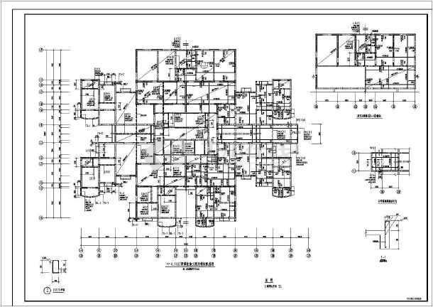 某地小型医院结构设计图纸(节点详细)-图2