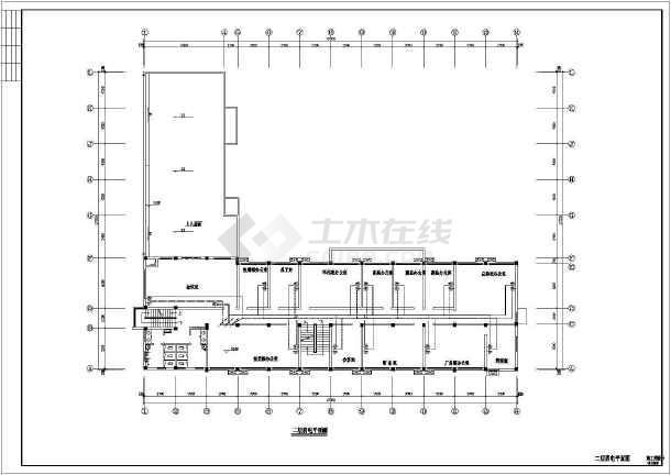 某地小型办公楼电气cad设计图(含设计说明)-图1
