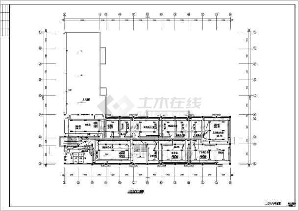 某地小型办公楼电气cad设计图(含设计说明)-图2