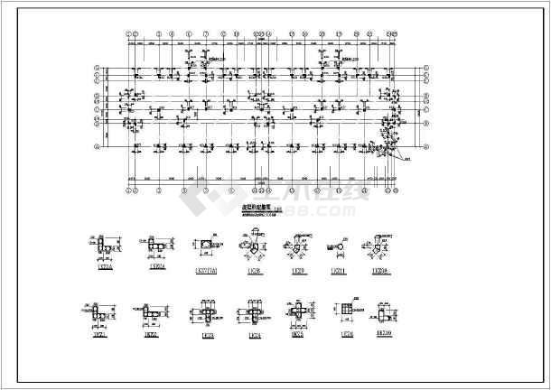 某地小型异型柱结构住宅施工图(标注详细)-图3