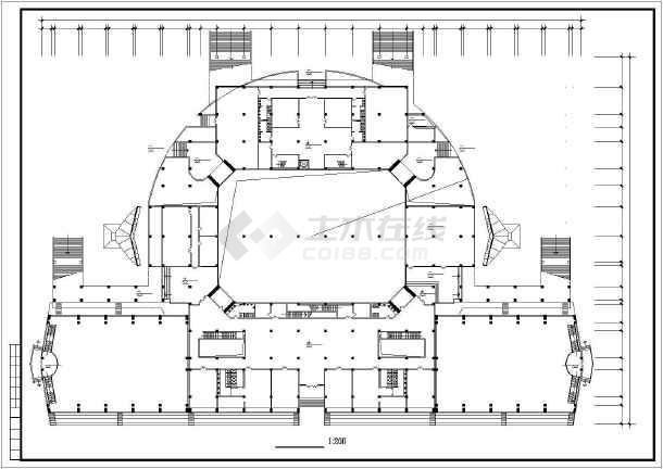 某大学体育馆建筑施工图纸(节点详细)-图1