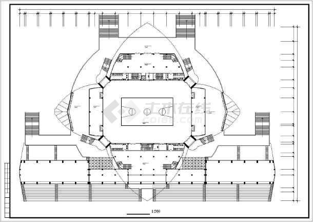 某大学体育馆建筑施工图纸(节点详细)-图2