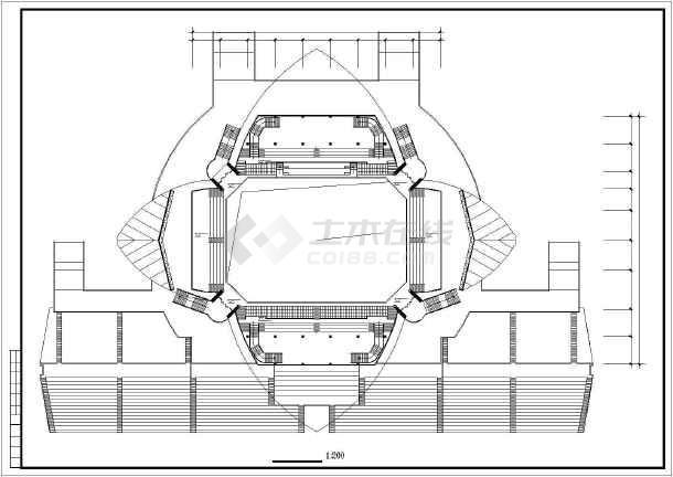 某大学体育馆建筑施工图纸(节点详细)-图3