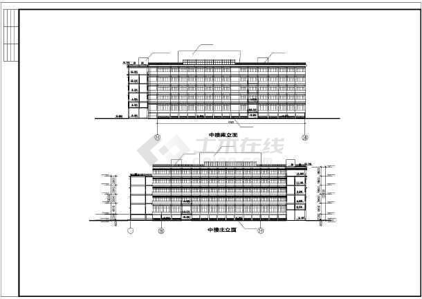 某地学校体育馆活动中心建筑施工图纸-图2