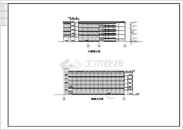某地学校体育馆活动中心建筑施工图纸-图3