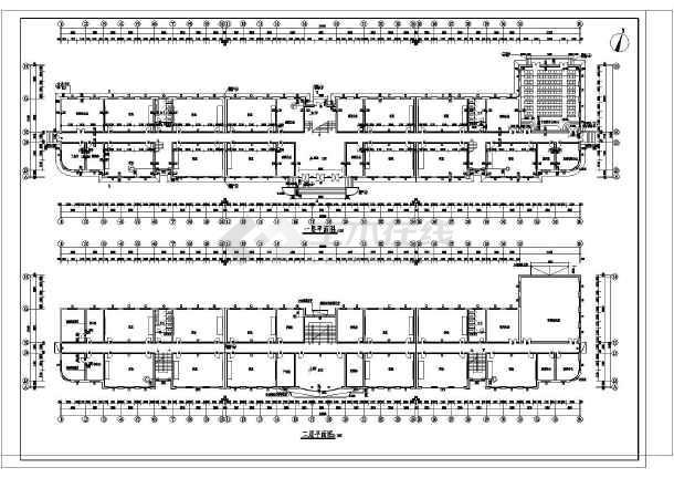 某地中学教学楼建筑结构图纸(节点详细)-图1