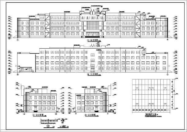 某地中学教学楼建筑结构图纸(节点详细)-图2