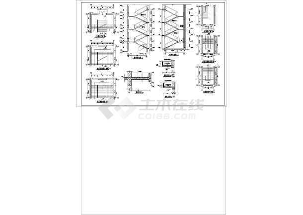某地中学教学楼建筑结构图纸(节点详细)-图3