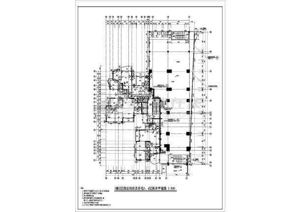 某地区大型高层住宅建筑施工平面设计图-图2
