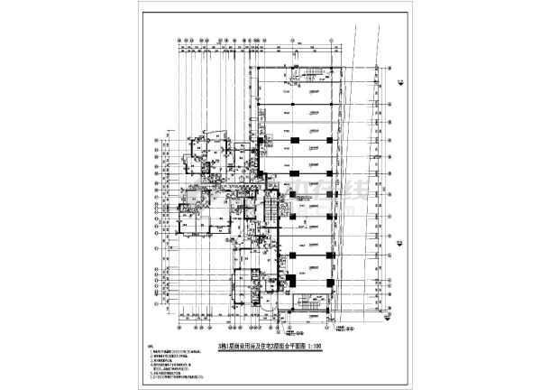 某地区大型高层住宅建筑施工平面设计图-图3