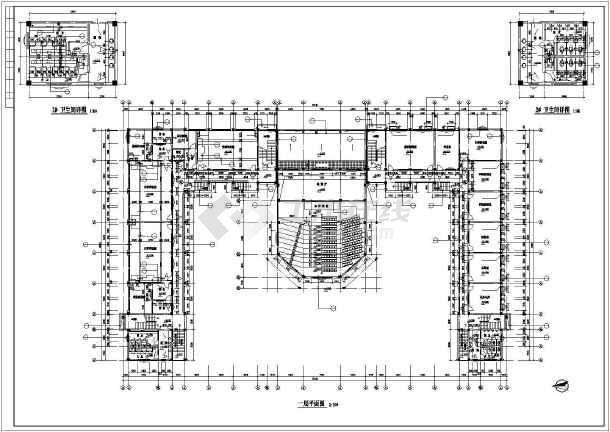 某地中学教学楼建筑施工图纸(带总图)-图1