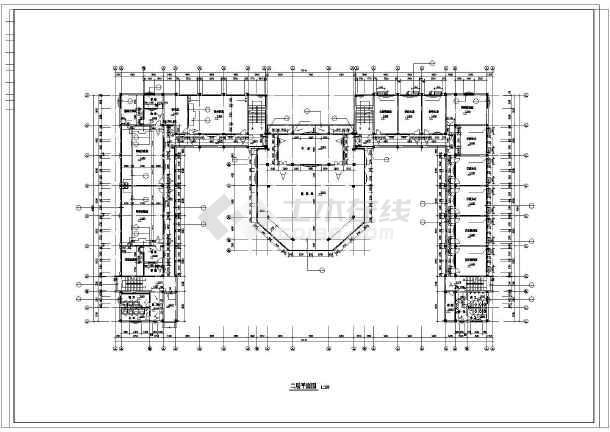 某地中学教学楼建筑施工图纸(带总图)-图2