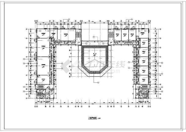 某地中学教学楼建筑施工图纸(带总图)-图3