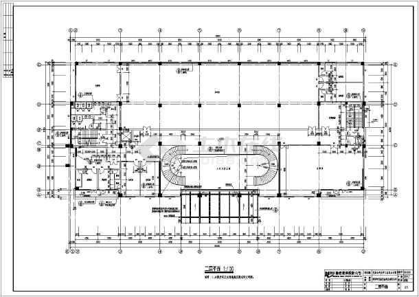 某产业公司工业区办公楼cad平立剖面施工设计图纸-图2