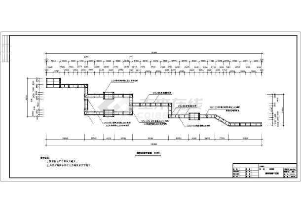 某工程景观栈桥园林CAD设计施工图-图1