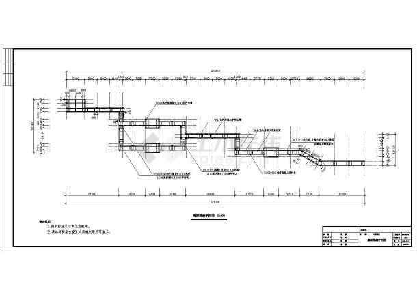 某工程景观栈桥园林CAD设计施工图-图2