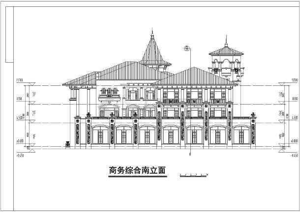 某地大型欧式会所施工cad设计图-图3