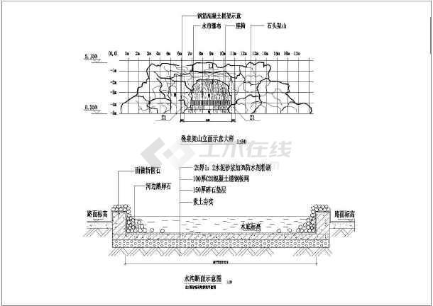 某大型公园全套景观园林cad设计施工图-图1