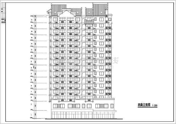 高层公寓初步设计cad施工设计方案图纸-图1