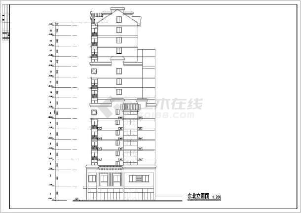 高层公寓初步设计cad施工设计方案图纸-图2