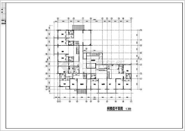 高层公寓初步设计cad施工设计方案图纸-图3