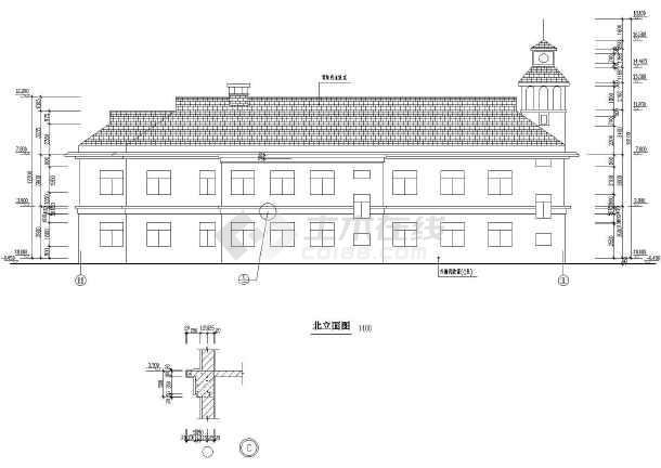 某地区大型山庄会馆建筑施工图(全套)-图1