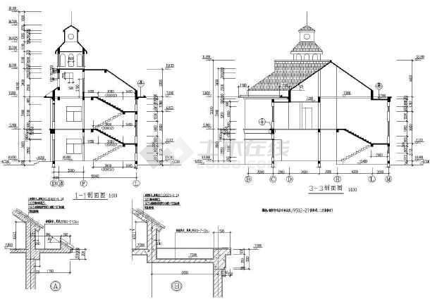 某地区大型山庄会馆建筑施工图(全套)-图3