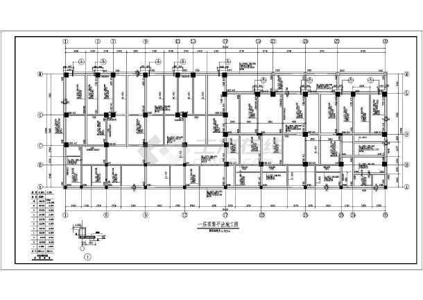 某底部商场高层住宅楼cad结构施工图纸-图1