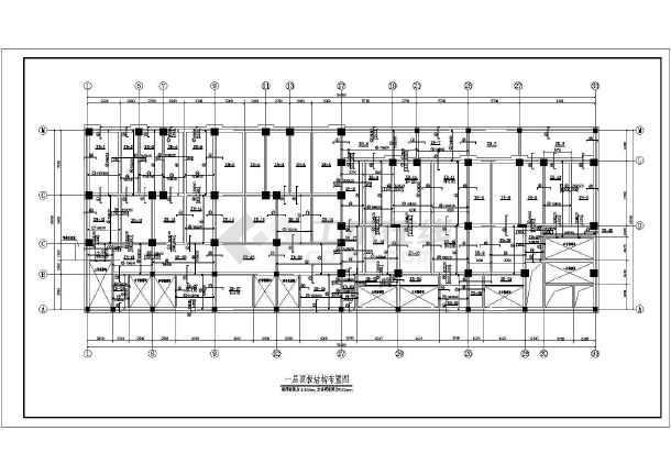某底部商场高层住宅楼cad结构施工图纸-图2